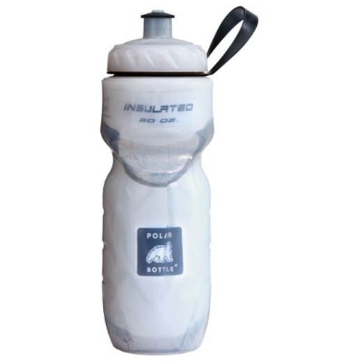 Polar Bottle Insulated Water Bottle 20 oz Clear w/ White Foil