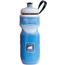 Polar Bottle Water Bottle 20oz Clear w/ Blue Foil