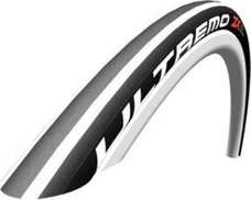 Schwalbe Ultremo ZX Clincher Tire Folding Bead, 700C x 23 White Stripes