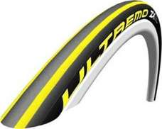 Schwalbe Ultremo ZX Clincher Tire Folding Bead, 700C x 23 Yellow Stripes