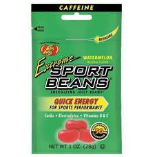 Jelly Belly Extreme Beans Nutrition Supplement extreme Watermelon 24/box, 2 boxes per case