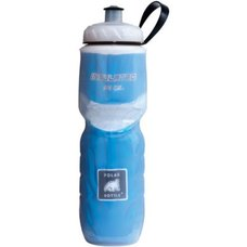 Polar Bottle Insulated Water Bottle 24 oz Clear w/ Blue Foil