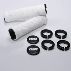 ODI Ruffian LockOn Bonus Handlebar Grips White/Black 130mm Length