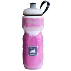 Polar Bottle Water Bottle 20oz Clear w/ Pink Foil