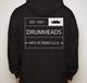 Classic Crown Full Zip Hooded Sweatshirt Black - X Large