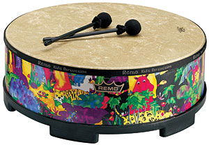 "Kids Percussion® Gathering Drum - Fabric Rain Forest, 22"" picture"