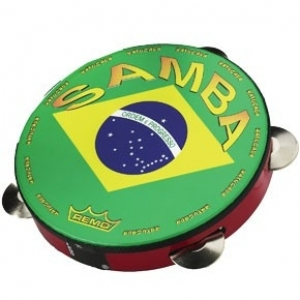 "Valencia Samba Pandeiro Drum - Cherry Red, 10"" picture"