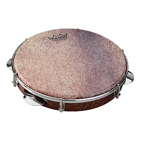 PANDEIRO SAMBA CHORO, 10&quot;, Key-tuned Skyndeep&reg; Goat Brown Ultratac head, Chrome Jingles picture