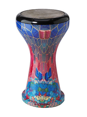 "Crystal Doumbek Drum - Sapphire Ruby, 9"" picture"