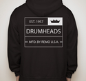 Classic Crown Full Zip Hooded Sweatshirt Black - Small