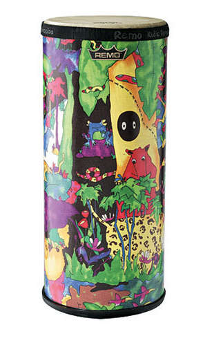 """Kids Percussion® Konga Drum - Fabric Rain Forest, 6"""" picture"""