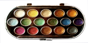 Niji Pearlescent Watercolor Set 16 colors picture