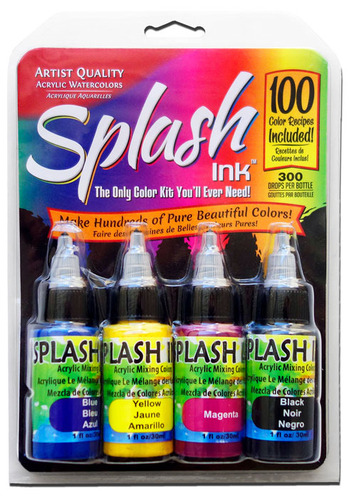 Splash Ink Acrylic Mixing Colors 4 Color Set picture