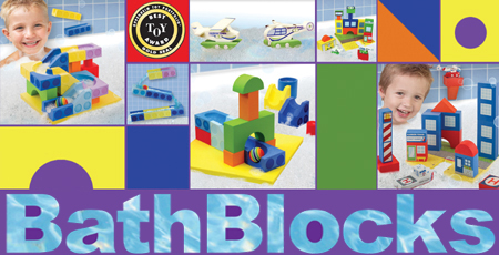 Educational, fun, empowering building blocks for the bath