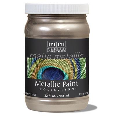 Matte Metallic Paint - Warm Silver 32oz picture