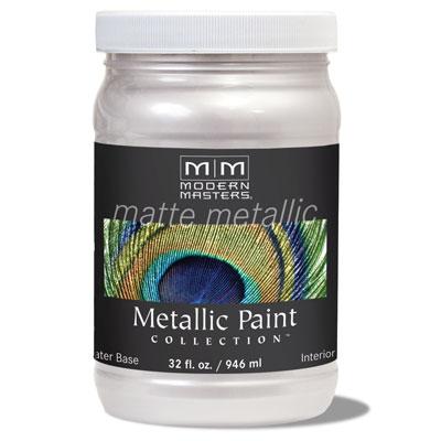 Matte Metallic Paint - Oyster 32oz picture
