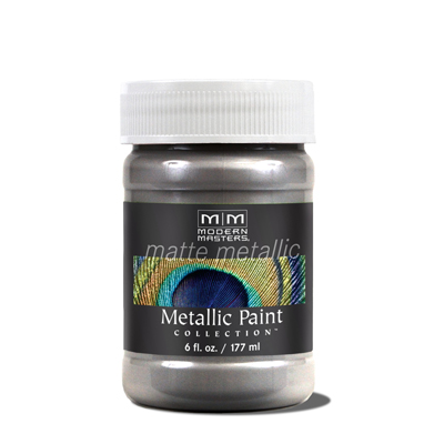 Matte Metallic Paint - Platinum/Silver 6oz picture