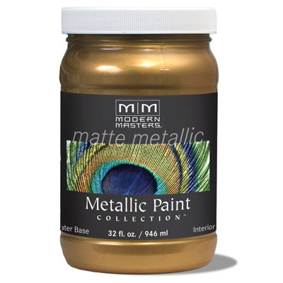 Matte Metallic Paint - Brass 32oz picture