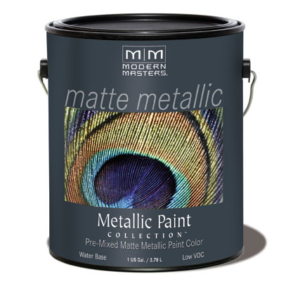 Matte Metallic Paint - Warm Silver Gallon picture