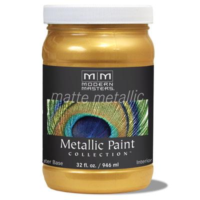 Matte Metallic Paint - Pale Gold 32oz picture