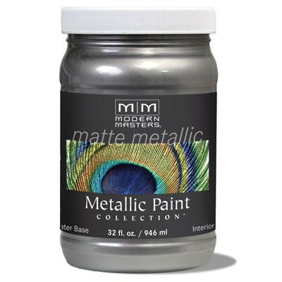 Matte Metallic Paint - Pewter 32oz picture