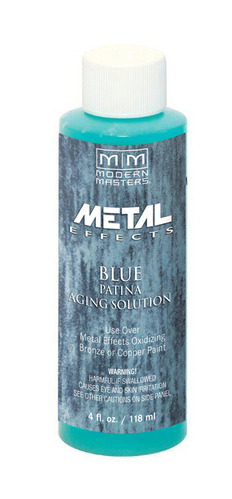 Metal Effects - Blue Patina Aging Solution 4oz picture