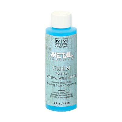Metal Effects - Green Patina Aging Solution Aging Solution 4oz picture