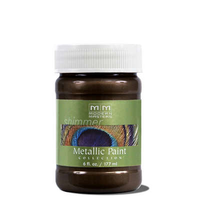 Metallic Paint - English Brown 6oz picture