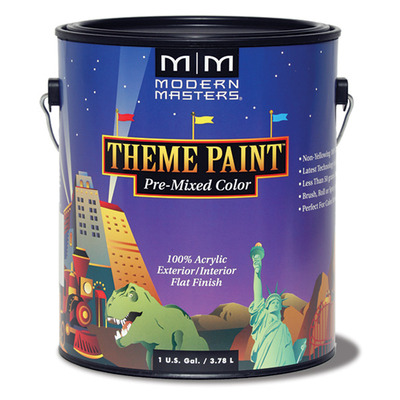 Theme Paint Pre Mixed Scenic Artist Palette - Raw Sienna - Gallon picture