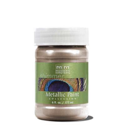 Metallic Paint - Warm Silver 6oz picture
