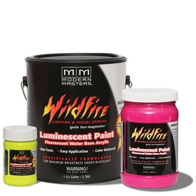 Wildfire Visible Fluorescent Paint - Bright Red - 6oz picture