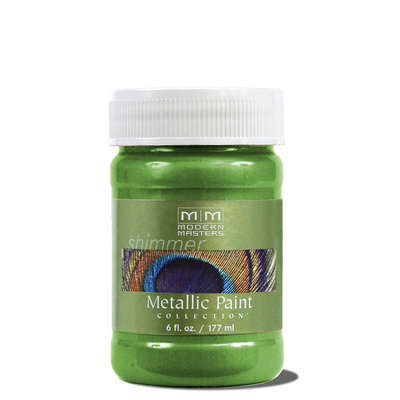 Metallic Paint - Green Apple 6oz picture