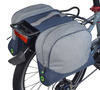 SMALL DOUBLE PANNIER - BLUE / GRAY