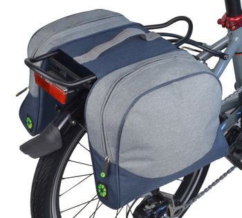 SMALL DOUBLE PANNIER - BLUE / GRAY picture