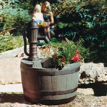 Whiskey Barrel Planter Fountain (FP-WBPF) picture