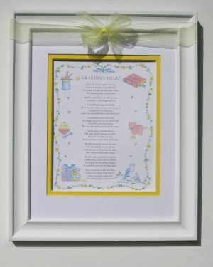 Grandpa's Heart Poem Frame 11x14 picture