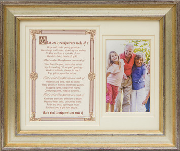 What are Grandparents made of 8x10 Frame picture