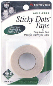 "Sticky Dots Adhesive - 3/8""x30' Tape picture"