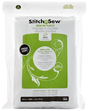 StitchnSew Fleece Sew-In High Loft (White 45 in. d/f x 1 Yard pack) picture