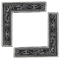 Black & Silver Scroll - Heritage Page Corners (6 packs included) picture