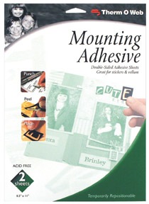 "Mounting Adhesive 8.25""x11"" Sheets (2) picture"