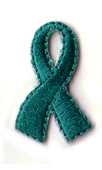 Ovarian Cancer Ribbons (1 sheet of 50 stickers)