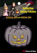 Pumpkin Halloween Reflective Patch (12 packs included)