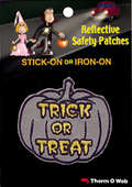 Trick or Treat Halloween Reflective Patch (12 packs included)