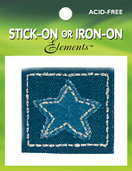 Denim Star Patch (6 packs included)