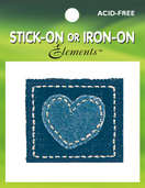 Denim Heart Patch ( 6 packs included)