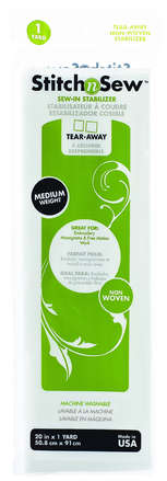 StitchnSew Non-Woven Tear-Away Medium Weight (White 20 in. x 1 Yard pack) picture