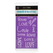 Deco Foil™ Love Stencil