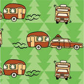 Happy Campers Retro Paper (1 pack of 25 sheets)