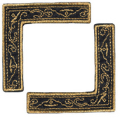 Black & Gold Scroll - Heritage Page Corners (6 packs included)